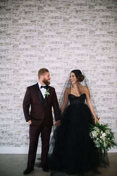 Industrial styled wedding shoot at gray matter museum bride strapless black  tulle ball gown with a affd86e7049b