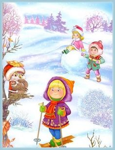 View album on Yandex. Winter Fun, Winter Sports, Winter Time, Winter Holidays, Four Seasons Art, Beautiful Christmas Scenes, Animal Art Projects, Winter Activities For Kids, Winter Images