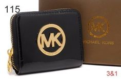 Michael Kors Bag Of Wallets Square Patent Gold Hardware With Black