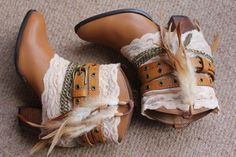 CUTE! Reworked leather cowboy boots by rougepony on Etsy...the only cowboy boots u would ever catch me in!!!