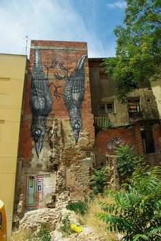#street art by roa     #Animal Art multicityworldtravel.com We cover the world over Hotel and Flight Deals.We guarantee the best price