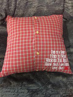 Keepsake Pillow/memory pillow/handmade pillow/memory of loved one/memorial pillow/memory keepsake/loved ones pillow/in memory of/mom/dad