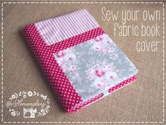 How to sew your own fabric book cover @ The Homemakery