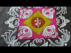 Sanskar Bharti Rangoli Design 2020 \ संस्कार भारती रांगोळी डिझाइन \ Diwali special Rangoli Design - YouTube Rangoli Designs Latest, Rangoli Designs Flower, Rangoli Border Designs, Rangoli Designs Diwali, Colour Rangoli, Sanskar Bharti Rangoli Designs, Diwali Special Rangoli Design, Rangoli Designs For Competition, Rangoli Borders