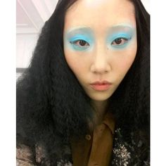 The Most Magical Moments From Paris Couture Week  #refinery29  http://www.refinery29.com/2016/01/102104/paris-spring-2016-couture-show-beauty-looks#slide-14  Blue-sky eyes were the beauty focus for Antonio Ortega's models. The look took the aquamarine eye trend and turned it on its gorgeous head. Full hair, bright eyes, can't lose. ...