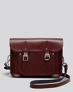 "Cambridge Satchel Company 11"" Satchel in Oxblood. Beautiful color for fall!"