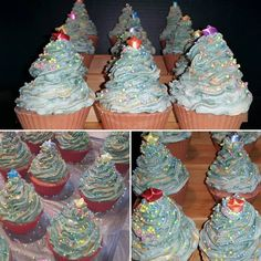 """""""Oh Xmas Tree"""" Cold Process Cupcakes. Second holiday soap."""
