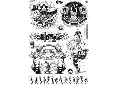 Hotze Klebetattoos - Hotze, schwarz
