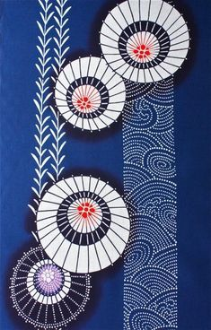 Japanese textileYou can find Japanese textiles and more on our website. Motifs Textiles, Textile Patterns, Textile Design, Textile Art, Print Patterns, Japanese Textiles, Japanese Patterns, Japanese Prints, Japanese Design