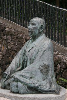 Statue of Toyotomi Hideyoshi in Arima Onsen, Kobe city #Samurai