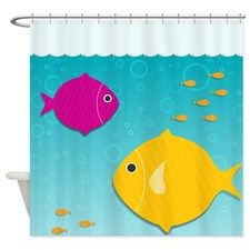 Cute Fish Shower Curtain for