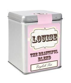 Personalised Tea Tin - Pink Vintage