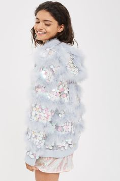 Sequin Feather Jacket