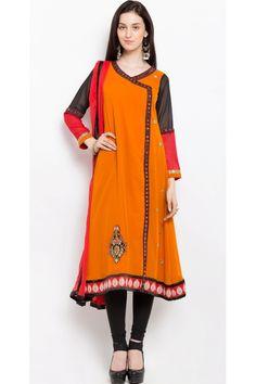 Traditional Wear Readymade Mustard Salwar Suit  - 20920