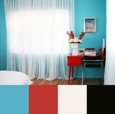 Azul, Rojo y Negro