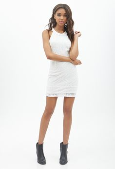 Off-the-Shoulder Eyelash Lace Dress - Forever 21 - 2002247412 ...