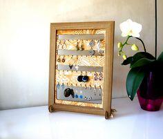 Wooden Jewelry Stand #wooden #earrings #display #jewelry #bracelet #stand #accessories #wood #girl #giftforher #flowers #memorableland