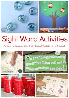 Sight Word Activities and Word Family Activities were the top searched at The After School Party this past week. You can tell that school is back in session! Sight words play a very important role Word Family Activities, Reading Activities, Literacy Activities, Teaching Reading, Teaching Ideas, Literacy Centers, Reading Help, Teaching Career, Primary Teaching