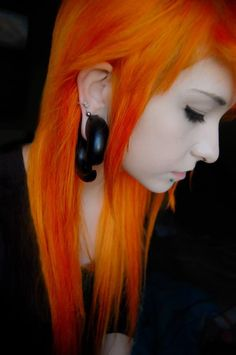 Bright orange hair. Ugh. Im in love. But i could never pull it off