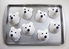 Easy No-Bake Polar Bear Cookies For Kids ⋆ Handmade Charlotte Christmas Cookies Kids, Christmas Party Food, Cookies For Kids, Christmas Goodies, Christmas Brunch, Polar Bear Food, Polar Bear Party, Polar Bears, Bear Cookies