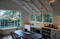 Manka's, Inverness, Point Reyes . http://www.houzz.com/photos/530734/Kelly-and-Abramson-Kitchens-industrial-kitchen-san-francisco