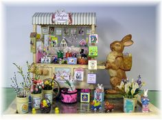 dollhouse miniature peddlers cart | ... AN EASTER PEDDLER'S CART...SCROLL DOWN-NEW CART PROJECTS ADDED DAILY