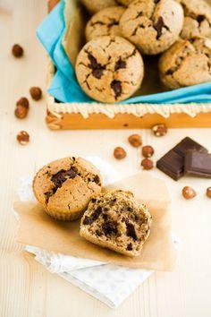 Muffins Vegan Choco-Noisettes @ Des Épices & Des Graines