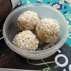 Niomi Smart Protein balls (coconut and lemon) | How to survive highlights | Healthy snacks