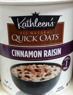 Kathleens Oat Quick Gf Cnnmn Raisin -- Click image for more details. Note: It's an affiliate link to Amazon.