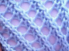 Como Tejer ENCAJE DIAGONAL - Diagonal Lace Stitch 2 Agujas (29) - YouTube Knitting Help, Knitting Videos, Arm Knitting, Knitting Stitches, Knitting Designs, Crochet Quilt, Tunisian Crochet, Crochet Stitches Patterns, Stitch Patterns