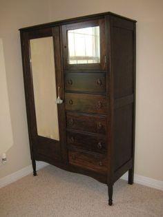 Antique Wooden Chifferobe Wardrobe Wardrobes Toms And