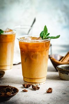 This Thai Tea Recipe from Scratch is a chilly drink without harmful dyes. Sip this sweet orange beverage to cool off or cool down when eating spicy foods. Thai Tea Recipes, Iced Tea Recipes, Spicy Recipes, Drink Recipes, Brunch Recipes, Smoothie Recipes, Delicious Recipes, Free Recipes, Breakfast Recipes