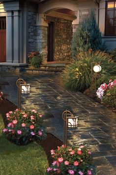 7 Inexpensive Ways to Boost Your Home's Curb Appeal via @PureWow: Install solar lights or low voltage lights