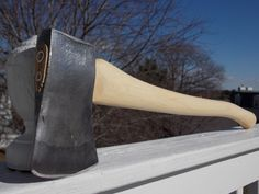 Collins Homestead boys axe with new 27 inch handle of American Hickory weighs 3lb 4oz by AppalachianAxeworks on Etsy