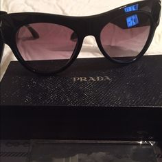 Prada Glasses. Sold-out frames with black gems Brand New Prada shades.  with box, case, etc. exclusive piece. With receipt. New Prada Accessories Glasses