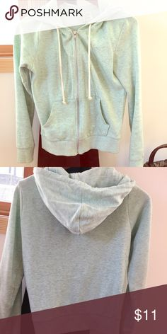 H&M Zip Up! Only worn a handful of times, this zip up is in great condition. It's warm and comfortable! Size XS! Great for the fall and winter! It's a real/greenish color. H&M Jackets & Coats