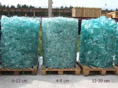 Glass gabion rocks