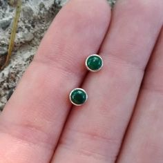 Tiny Malachite Stud Earrings, Sterling Silver Simple Minimal Earrings, Natural Green Malachite, Dainty, Minimalist Jewelry, Hypoallergenic by SilverlingStudio on Etsy Sterling Silver Earrings Studs, Stud Earrings, Labradorite Ring, Boho Rings, Minimalist Jewelry, Malachite, Modern Jewelry, Business Products, Group