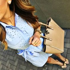 Sequins and Things Dresses For Teens, Blue Dresses, Casual Dresses, Casual Outfits, Cute Outfits, Summer Dresses, Fashion Outfits, Cute Teacher Outfits, Who What Wear