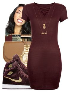 """Friday the 13th "" by glowithbria ❤ liked on Polyvore featuring Michael Kors, NIKE and Forever 21"