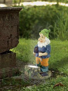 Solar LED Garden Gnome - Blue