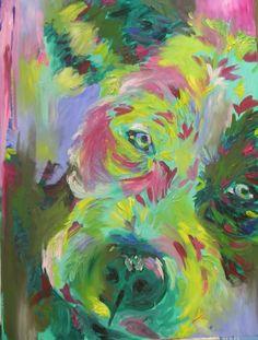 red dog portrait