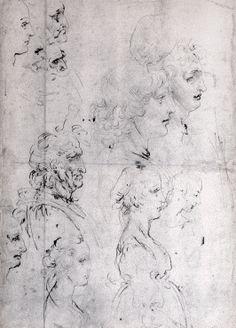 Étude de profils Windsor Castle, Royal library