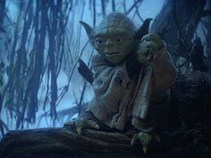 Yoda on Dagobah