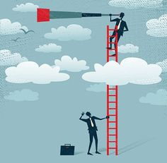 abstract businessman gets a better view. great illustration of retro styled businessman climbing above the clouds to get a better view of the landscape than his competitors. Innovation Management, Innovation Strategy, Types Of Planning, Internal Audit, Corporate Strategy, Astrology Predictions, Goals And Objectives, Customer Engagement, Branding