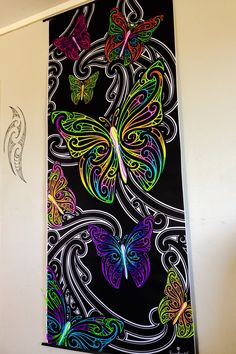 """hineraukatauri"" Wall Mural Decals, Polynesian Art, Maori Designs, Duck House, New Zealand Art, Maori Art, Kiwiana, Art Carved, Art N Craft"