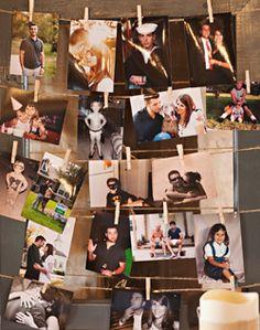 Bride and groom photo board. Visit www.rosetintmywedding.co.uk for bespoke wedding planning and design.