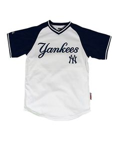 Take a look at this Stitches Athletic Gear White & Navy New York Yankees Jersey - Boys on zulily today!