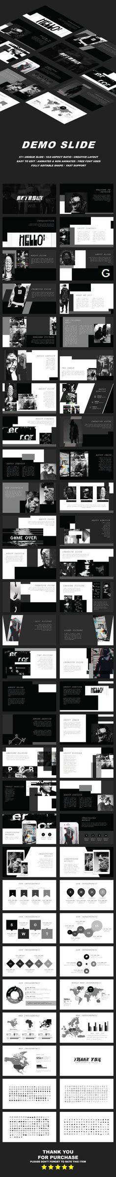 Retrock Presentation Templates Abstract Presentation by CreatorTemplate. Presentation Slides, Presentation Design, Presentation Templates, Business Powerpoint Templates, Keynote Template, Typography Design, Logo Design, Graphic Design, Brochure Design