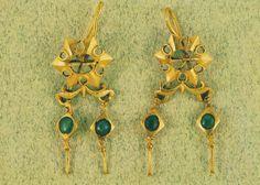 Par de brincos Tesouro da Borralheira, Teixoso, Covilhã Época Romana Séc. III d.C
